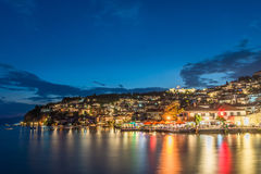 Ohrid na noite Fotos de Stock