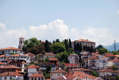 Ohrid, Ohrid Lake, Macedonia. The old part of town, Ohrid, Ohrid Lake, Macedonia Royalty Free Stock Photos