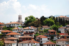 Ohrid, Ohrid Lake, Macedonia. The old part of town, Ohrid, Ohrid Lake, Macedonia Stock Photography