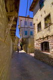 Ohrid old city alley. Narrow alley in famous Macedonian touristic destination Ohrid Royalty Free Stock Image