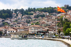 Ohrid old city panoramic view, Macedonia Stock Photography