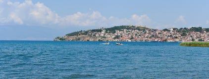 Ohrid pano Obrazy Royalty Free