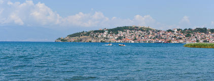 Ohrid pano royalty free stock images