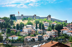 OHRID, REP. OF MACEDONIA - AUGUST 6, 2016: The walls of Samuel F stock photography