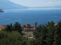 Ohrid See Stockfotografie