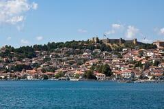 Ohrid See und Stadt Stockbild