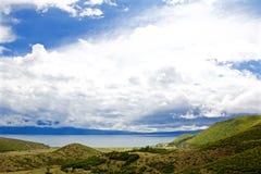 Ohrid sjö från albanian sida Royaltyfri Fotografi