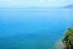 Ohrid sjö i sommaren Royaltyfri Bild