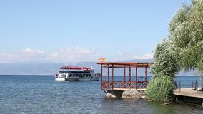 Ohrid sjö Makedonien lager videofilmer