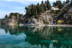 Ohrid sjö, Makedonien Royaltyfri Foto