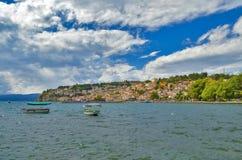 Ohrid sjö Makedonien Royaltyfri Fotografi