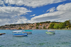Ohrid sjö Makedonien Royaltyfria Bilder