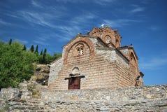 Ohrid, St. John/Jovan Kaneo da igreja Foto de Stock Royalty Free