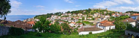 Ohrid stad i Makedonien Royaltyfria Foton
