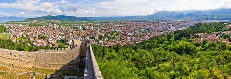 Ohrid vom alten Schloss, Mazedonien Lizenzfreies Stockfoto