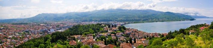 Ohridbaai, Macedonië Royalty-vrije Stock Foto's