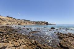 Ohrschnecken-Bucht-Küste in Süd-Kalifornien stockfotografie