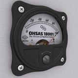 OHSAS 18001 Les pour cent de l'exécution indicateur illustration de vecteur