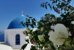 Oi Santorini Igreja Lizenzfreies Stockfoto