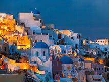 Oia圣托里尼希腊 免版税库存图片