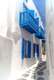 Oia村庄传统结构Santorini海岛的 库存图片