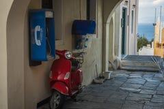 Oia镇,圣托里尼海岛,希腊都市风景  库存图片