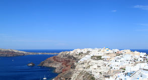 Oia,圣托里尼海岛,希腊 库存照片