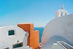 Oia,圣托里尼的颜色 免版税库存照片