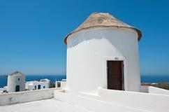 Oia,圣托里尼,希腊建筑学  免版税图库摄影