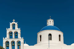 OIA,海岛圣托里尼, GREECE-SEPTEMBER, 03,2014 免版税库存图片