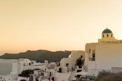 OIA,海岛圣托里尼, GREECE-SEPTEMBER, 03,2014 免版税库存照片