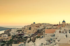 OIA,海岛圣托里尼, GREECE-SEPTEMBER, 03,2014 免版税图库摄影