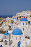 Oia - église - santorini (Cyclades) Photo stock