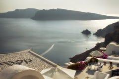 Oia, νησί Santorini, διάσημος προορισμός ταξιδιού της Ελλάδας στοκ φωτογραφία με δικαίωμα ελεύθερης χρήσης