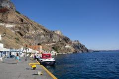 oia νησιών santorini Αλιεύοντας κόλπος Στοκ Φωτογραφίες