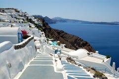 Oia νησιών Santorini όψη Στοκ εικόνα με δικαίωμα ελεύθερης χρήσης