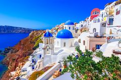 Oia, остров Santorini, Греция, Европа стоковая фотография