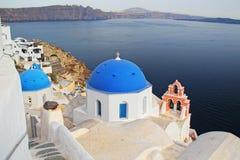 Oia, остров Santorini, Греция Стоковое Изображение RF