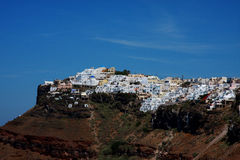 Oia. Several picturesque churches in Ia (Oia), Santorini, Greece Royalty Free Stock Images