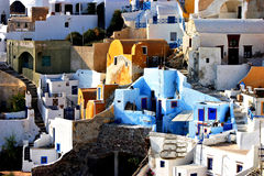 Oia architecture detalis Stock Photo