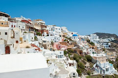 Oia architecture on the Island Thera (Santorini). Cyclades,Greece. Royalty Free Stock Photography