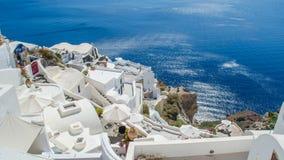 Oia auf Santorini Insel Lizenzfreie Stockbilder