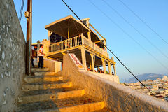 Oia auf Santorini Insel Lizenzfreie Stockfotografie