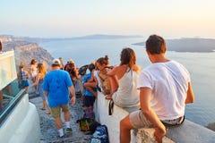 Oia auf Santorini Insel Stockfotos