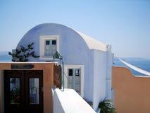 Oia auf Santorini Insel Griechenland stockbilder