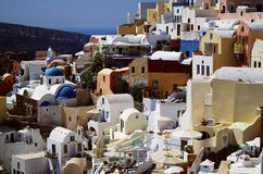 Oia. A beautiful somewhere in Oia Royalty Free Stock Image