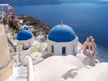 Oia Buildings Royalty Free Stock Photography