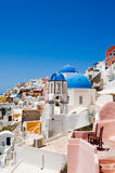 Oia church on the island of Santorini, Greece Royalty Free Stock Photography