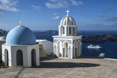 Oia Church, Santorini Royalty Free Stock Photography