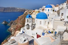 Oia - church - santorini (cyclades) Royalty Free Stock Images
